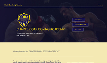 www.cobaboxing.net - Charter Oak Amatuer Boxing Academy & Youth Development Program Inc.